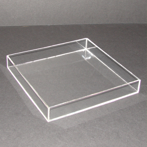 25cm Square Clear Acrylic Tray