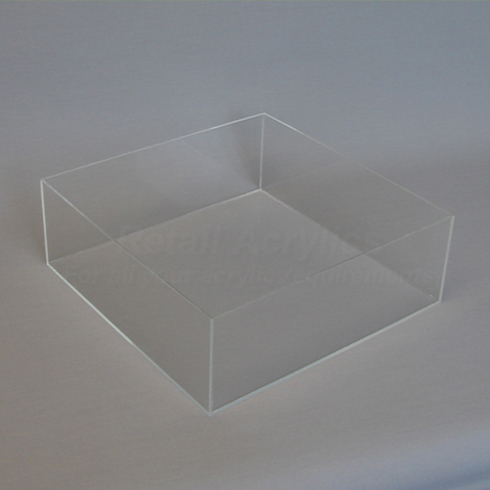30cm Square Clear Acrylic Tray Deep