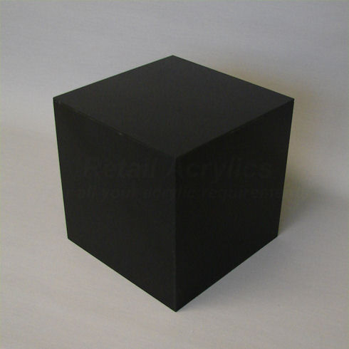 40cm Black Acrylic Display Cube Box