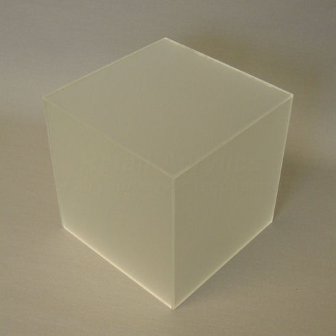 10cm Frost Acrylic Display Cube Box