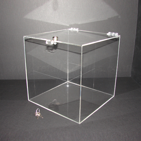 20cm Lockable Clear Acrylic Display Box