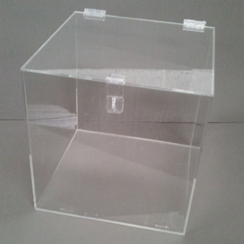 20cm   Lockable Clear Acrylic Display Box for use with Padlock