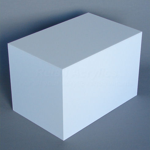 20cm X 30cm White Acrylic Display Box
