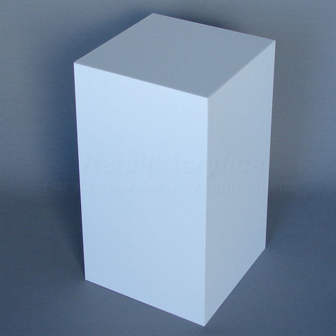 20cm x 30cm - White Acrylic Display Box  Vertical