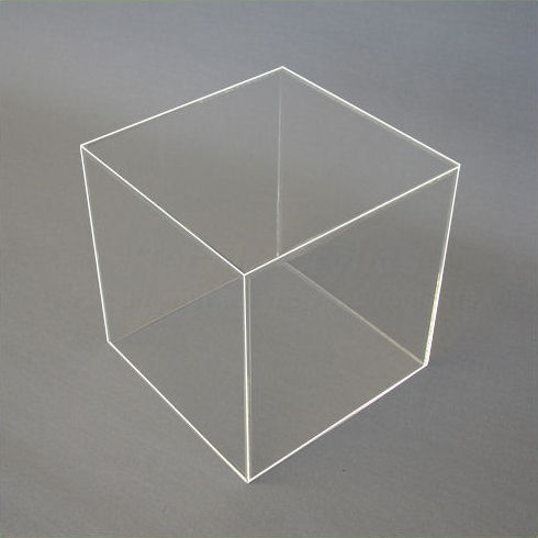 40cm - Clear Acrylic Display Cube / Box