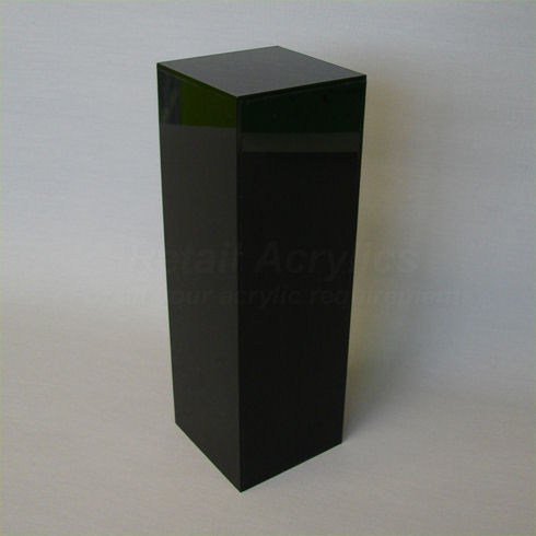 40cm Square - Black Acrylic Display Pedestal / Plinth - 100cm Tall
