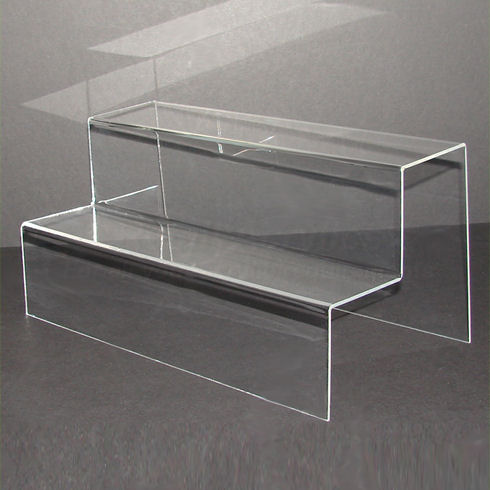 40cm Wide - Clear Acrylic 2 Step Display Stand