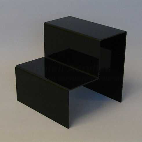 Standard  Black Acrylic 2 Step Display Stand