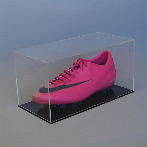 Football Boot Display Case with Black Base
