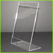 Clear acrylic angled poster display stand