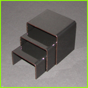 Set of 3 gloss black acrylic display riser / bridge