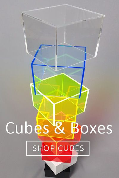 Acrylic Cubes and Boxes