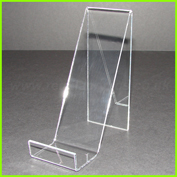Clear acrylic angled product display stand